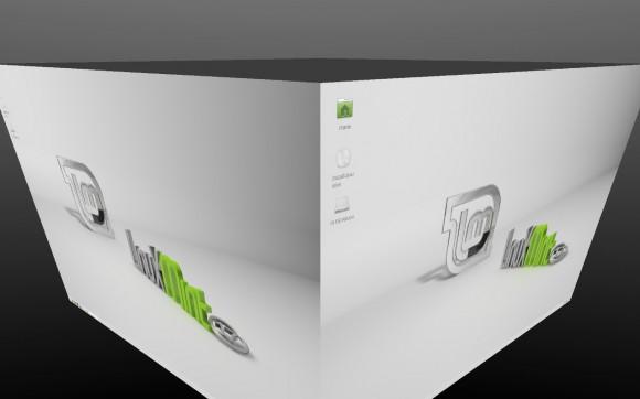 Linux Mint Xfce: Compiz Cube (Quelle: linuxmint.com)