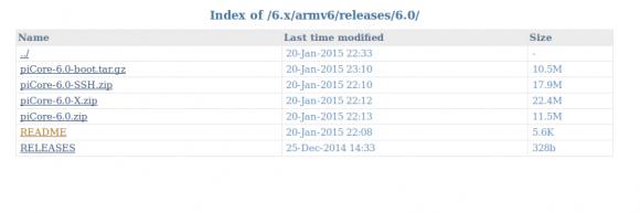 piCore 6.0 in mehreren Varianten