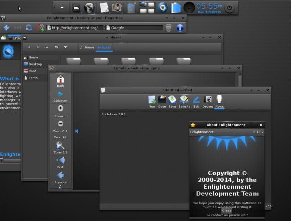 Bodhi Linux 3.0.0 RC2: Anwendungen (Quelle: jeffhoogland.blogspot.com)
