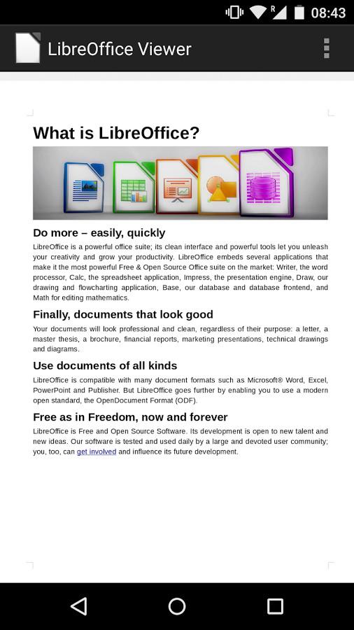 LibreOffice Viewer Beta für Android ist ab sofort testbereit (Quelle: play.google.com)