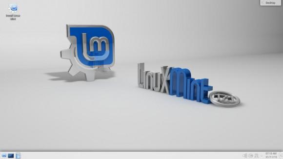Linux Mint 17.1 KDE: Desktop