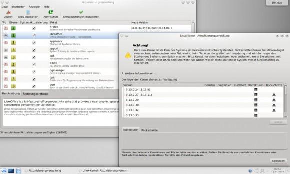 Linux Mint 17.1 KDE: Update-Manager und Kernel-Auswahl
