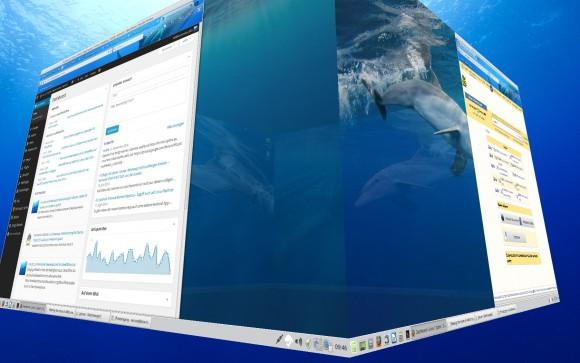 Linux Mint 17.1: Desktop Cube mit Compiz