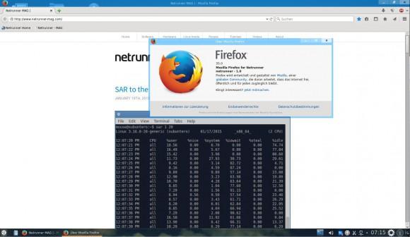 Netrunner 14.1: Firefox
