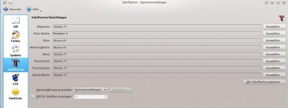 Schriftbild von Kubuntu 14.04