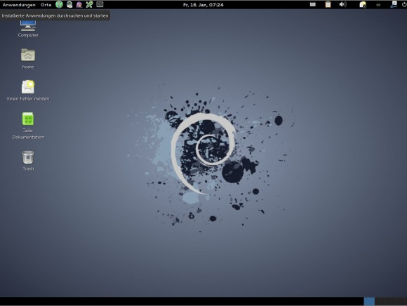 Tails 1.2.3 mit GNOME
