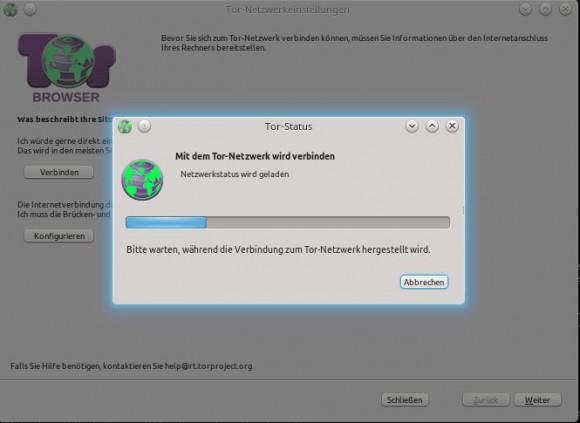Tor Browser: verbinden