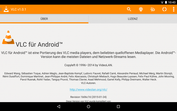 VLC für Android 1.0.1