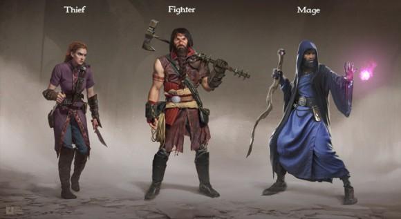 Underworld Ascendants: Dieb, Kämpfer, Magier (Quelle: kickstarter.com)