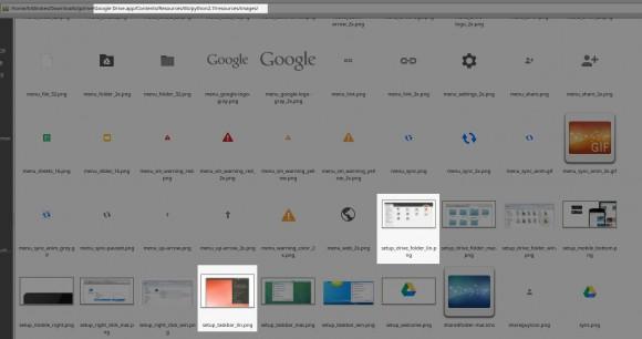Das Mac-Paket von Google Drive enthält Linux-Screenshots