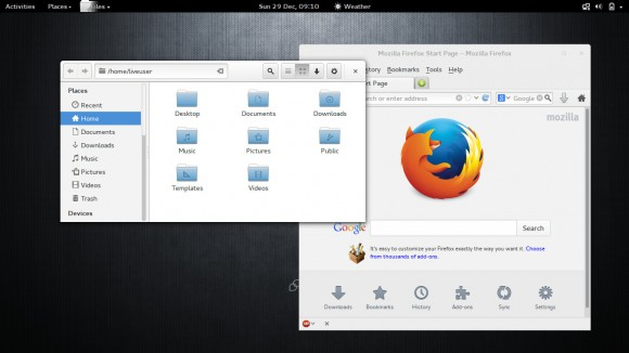 Korora 21: GNOME (Quelle: kororaproject.org)