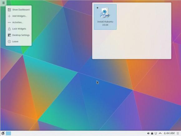 Kubuntu 15.04: Widgets hinzufügen