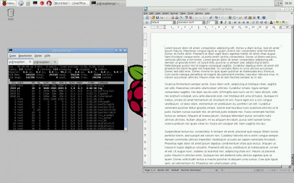 LibreOffice auf dem Raspberry Pi 2