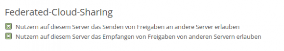 ownCloud 8 und Federated Cloud Sharing