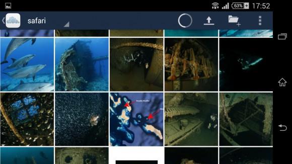 ownCloud-Client 1.7.0 für Android: Vorschau der Bilder