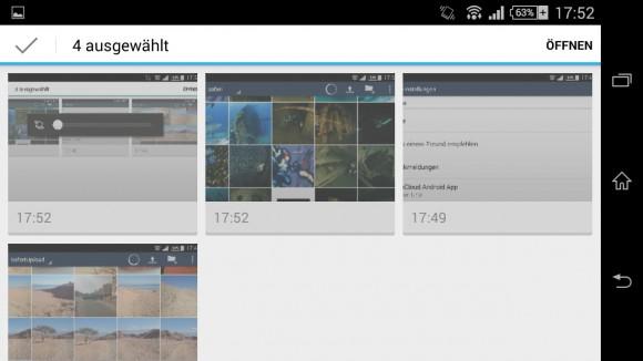 ownCloud-Client 1.7.0 für Android: Mehrere Dateien hochladen