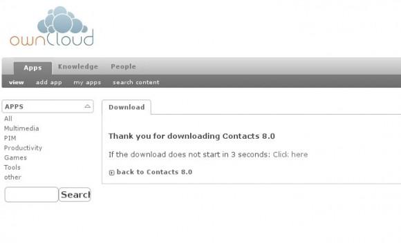 ownCloud Upgrade: iIch musste Kalender und Kontakte selbst herunterladen