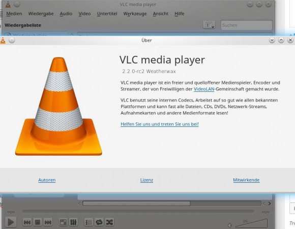 VLC 2.2 WeatherWax