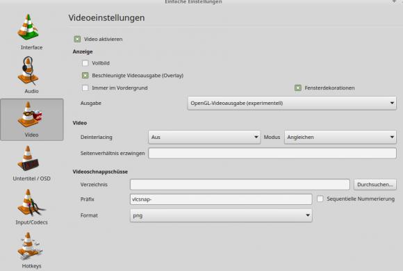 In VLC 3.0.0 wird OPenGL die Standard-Ausgabe unter Linux und BSD sein