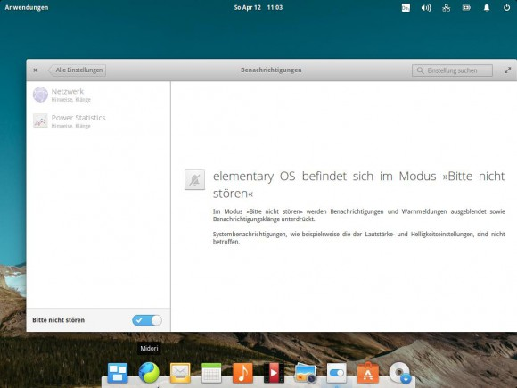 elementary OS 0.3: Bitte nicht stören