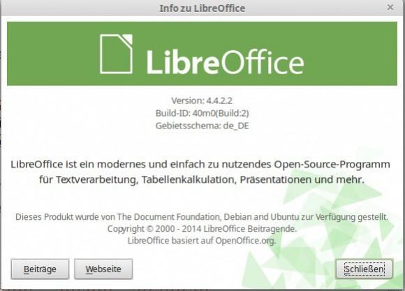 LibreOffice 4.4.2 unter Linux Mint 17.1