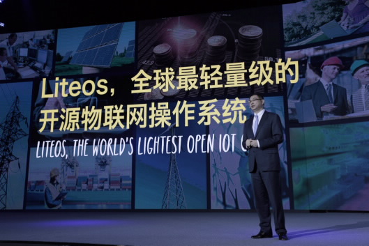 LiteOS für das IoT: William Xu, Chief Strategy und Marketing Officer von Huawei bei der Keynote für HNC2015 (Quelle: huawei.com)
