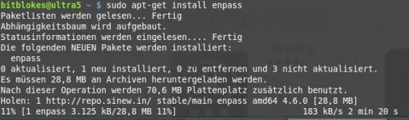 Passwort-Manager via Repository installieren
