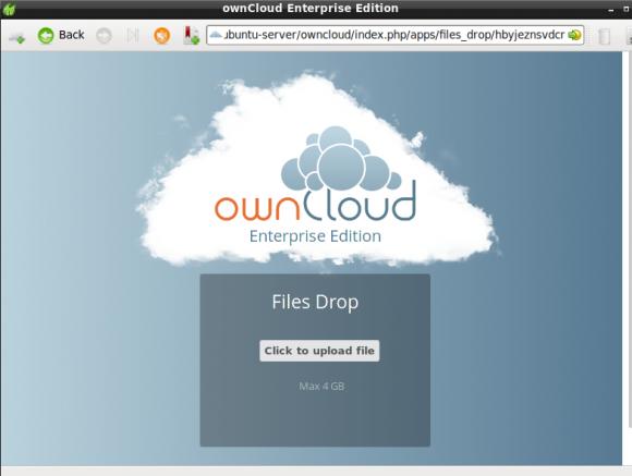 ownCloud 8.0.3: File Drop (Quelle: ownCloud.com)