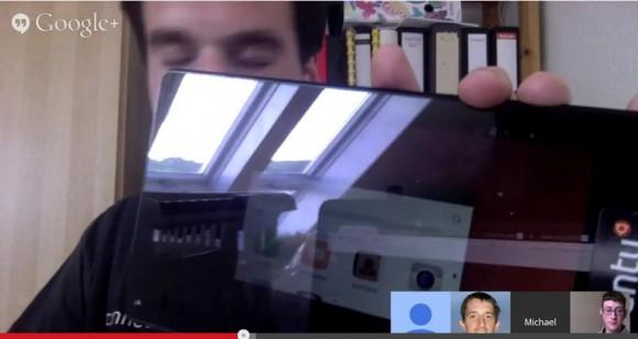 Die Konvergenz funktioniert, gespiegelten Bildschirm nicht gegen Fenster halten - daran übt man noch :)