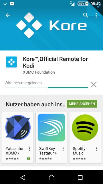 Kore: Neue Android-Fernbedienung für Kodi