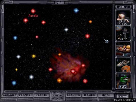 Master of Orion 2: Sternenkarte (Quelle: Gog.com)