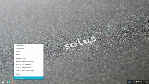 Solus 2: Pin to Panel