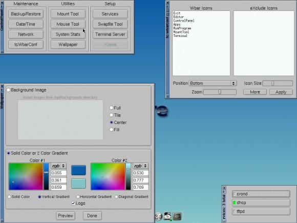 Tiny Core Linux 6.2: Konfiguration