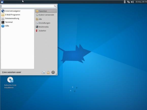 Xubuntu Core: Recht übersichtlich