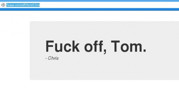 FOAAS: Fuck off, Tom - Chris