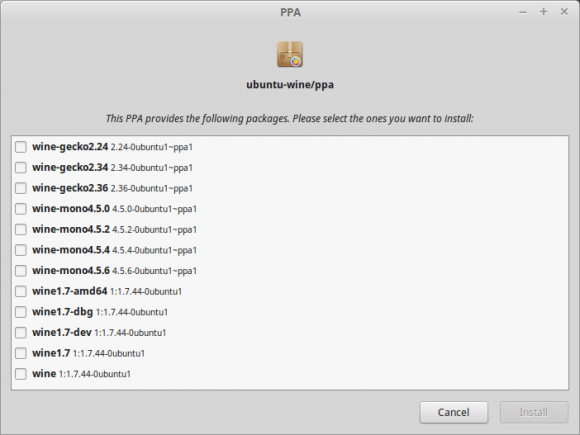 Linux Mint 17.2 RC: Anwendungspaketquellen (Quelle: linuxmint.com)