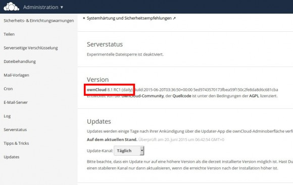 ownCloud 8.1 RC1