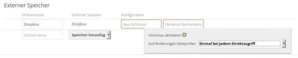 ownCloud 8.1 RC1: Mount-Optionen bei externem Speicher
