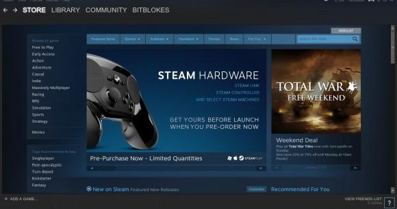 SteamOS Brewmaster startet direkt in den Steam Client
