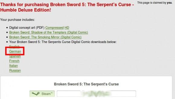 Broken Sword 5 gibt es auch auf Deutsch