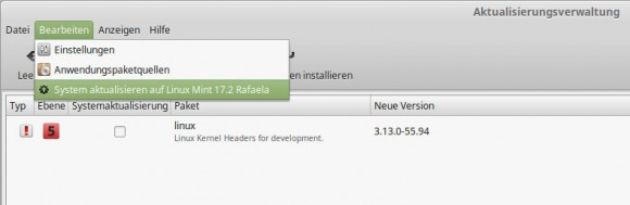 Upgrade auf Linux Mint 17.2