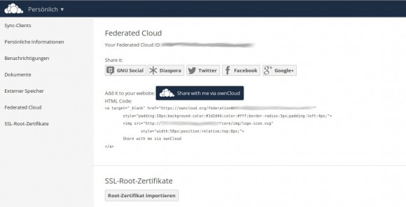 ownCloud 8.1: Federated Cloud ID