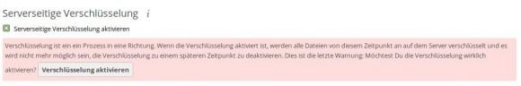 ownCloud 8.1 und Server-seitige Verschlüsselung - lässt sich nicht rückgängig machen