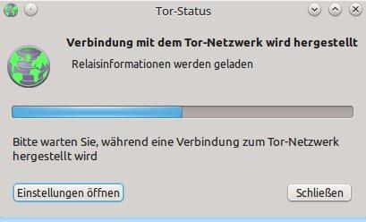 Tor Browser 5.0a3 mit dem Tor-Netzwerk verbinden
