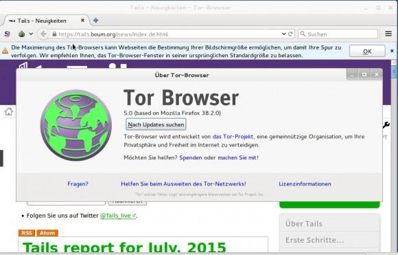 Tor Browser 5.0 basiert auf Firefox 38 ESR - Hinter .onion stehen die Macher von Tor