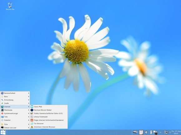 Tails 1.5: Windows 8 Tarnmodus