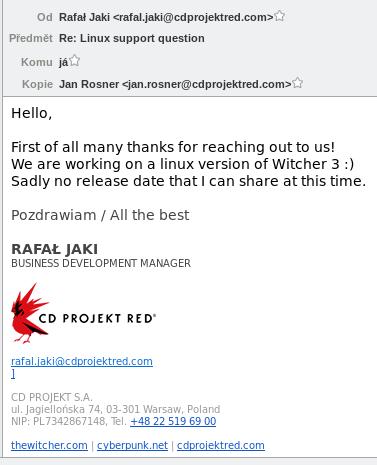 The Witcher 3 kommt angeblich für Linux
