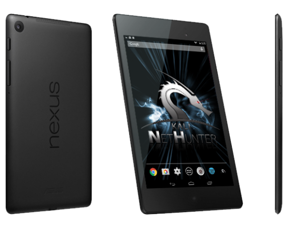 netHunter: Kali Linux 2.0 auf einem Nexus 7 (Quelle: offensive-security.com)