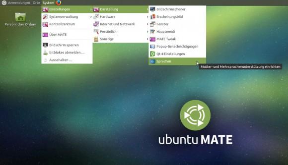 Klickt man beo Ubuntu MATE 15.04 für das Raspberry Pi 2 auf dieses Symbol, werden die Sprachpakete nachinstalliert