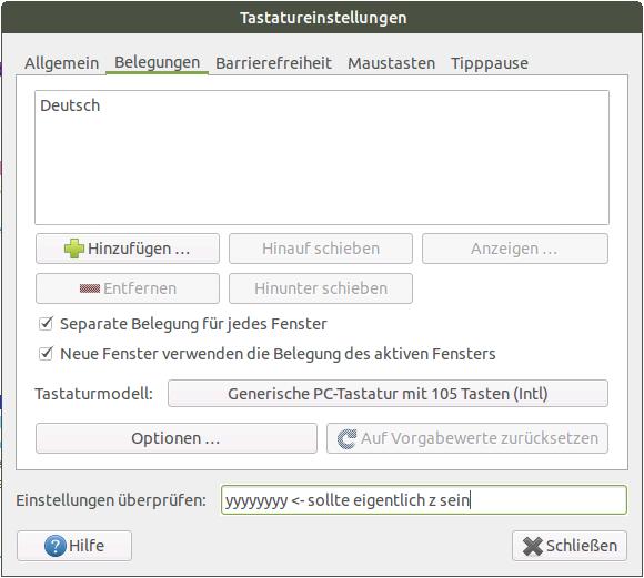 Ubuntu MATE 15.04 für Raspberry Pi: Tastatur auf Deutsch umstellen - das System ignoriert das nach einem Neustart aber